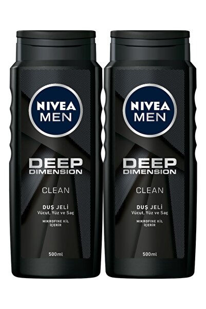 Nivea Men Deep Dimension Erkek Duş Jeli 500 ml x 2
