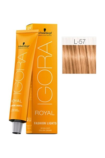 SCHWARZKOPF HAIR MASCARA Igora Royal Fashion Lights L-57 Altın Bakır