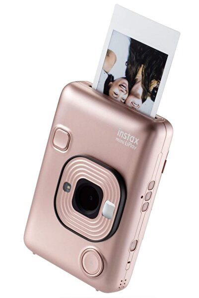 instax mini LiPlay Hybrid Blush Gold Fotoğraf Makinesi