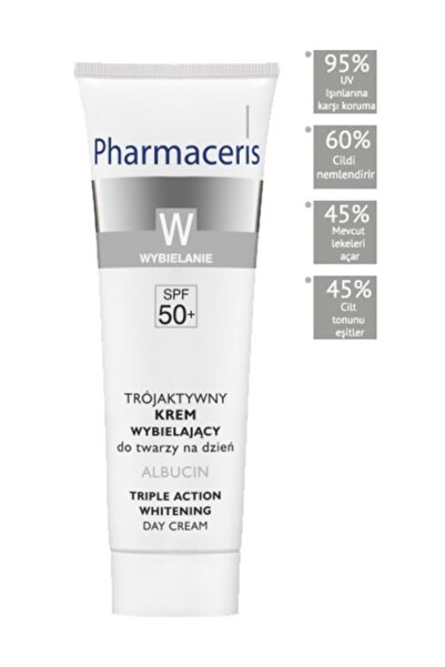 Pharmaceris Albucin Triple Action Skin Lightening Cream Leke Cilt Güneş Koruyucu