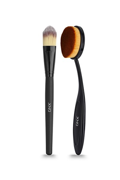 GNX Orta Boy Fondöten ve Kontür Fırçası - Foundation Middle Size Brush & Contour Brush 8682442260574