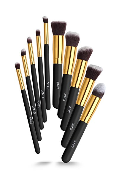 GNX 10'lu Fırça Seti - 10 Pcs Brush Set Siyah 8682442260055