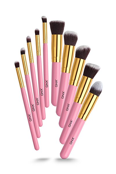 GNX 10'lu Fırça Seti - 10 Pcs Brush Set Pembe 8682442260048