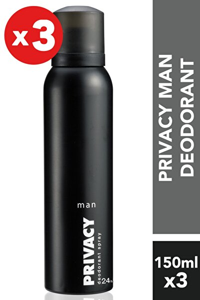 Privacy Men 3'Lü Deodorant (3X150 ml )
