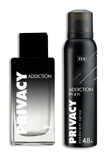 Privacy Addiction Edt 100 ml + Deodorant 150 ml Erkek Parfüm Seti 8690586017794