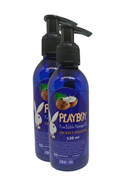 Playboy Pure Edible Massage Oil 120 ml Hindistancevizi Aromalı Masaj Yağı 2 Adet