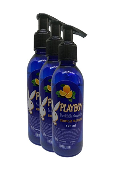 Playboy Pure Edible Massage Oil 120 ml Portakal Aromalı Masaj Yağı 3 Adet
