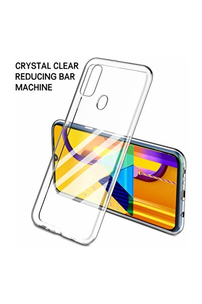 Galaxy M30s Kılıf, Microsonic Transparent Soft Beyaz