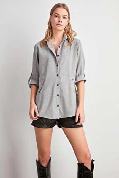 Gri Uzun Gömlek TWOAW20GO0504