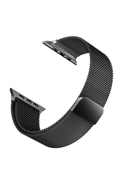 Microsonic Apple Watch 5 44mm Milanese Loop Version 3 Kordon Siyah