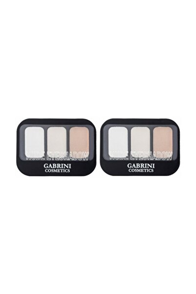 Gabrini Nude Eyeshadow 3'lü Far 6 Gr No 101 X 2 Adet