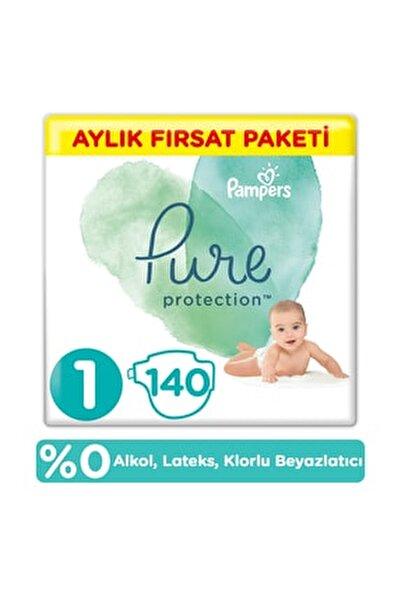 Pure Bebek Bezi 1 Beden 140 Adet Aylık Fırsat Paketi