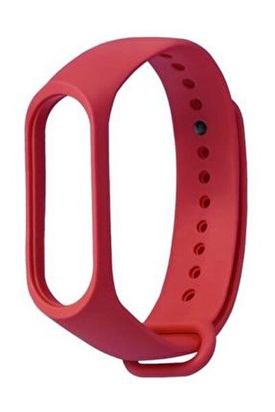 Pufwin  Mi Band 3 4 Uyumlu Silikon Kordon Kırmızı