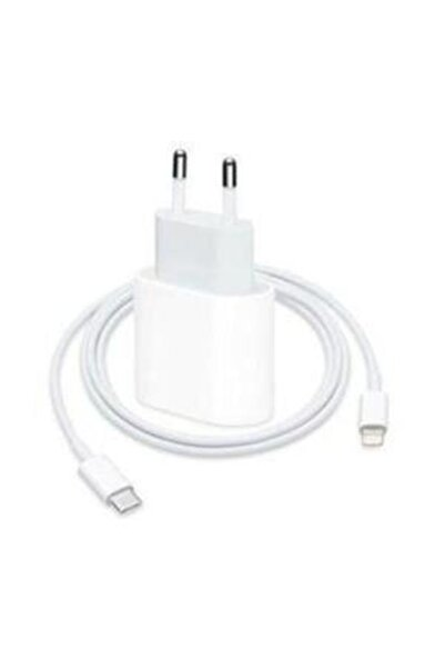 TEKNO GARAGE Apple Iphone 11 Şarj Aleti Seti 18w Usb-c Adaptör- Usb-c Lightning Cable