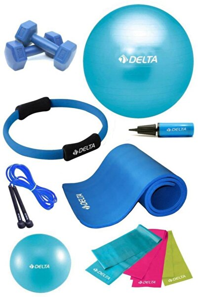 Delta 10 MM Minderli PTS Turkuaz Full Pilates Seti (75 cm 20 cm)