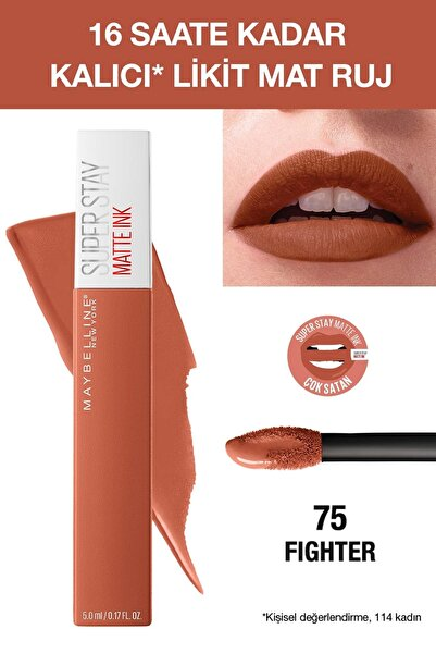 Likit Mat Ruj - SuperStay Matte Ink Liquid Lipstick 75 Fighter 3600531469436