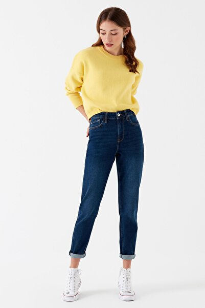 Kadın Mom Jeans Cindy Rinse Gold Icon 100277-29593