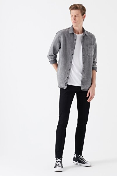 Erkek Super Skinny James Jean Black Berlin Denim