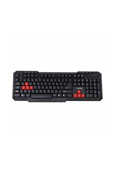 TURBOX Klavye  Tr-x3 Red / Black Oyuncu Gaming Multimedya Q Tr