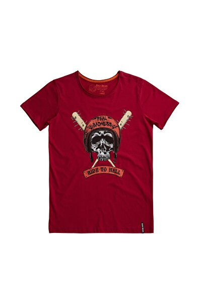 Bad Bear Erkek Tişört RIDE TO HELL TEE MAROON