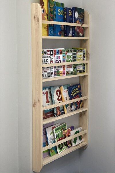 Montessori Kitaplık Çocuk Odası Eğitici Kitaplık Ahşap Bebek Çocuk Odası Montessori Ahşap Duvar Rafı