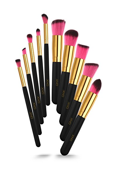 GNX 10'lu Fırça Seti - 10 Pcs Brush Set Siyah 8682442260963