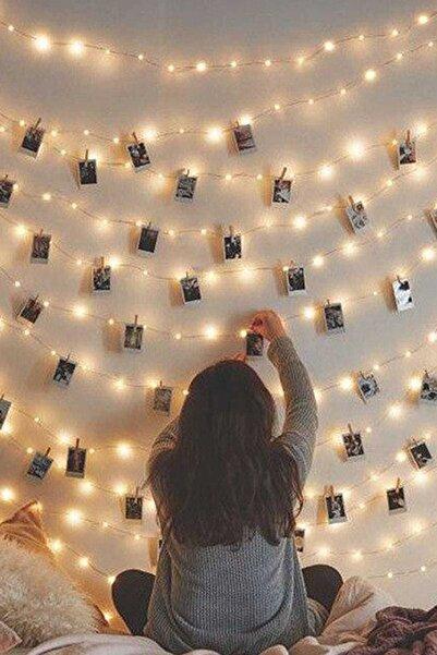 Parti dolabı 3 Metre Peri Led Işık 15 Adet Küçük Mandal Fotoğraf Asma Seti Anı