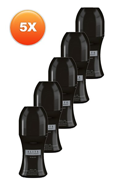 AVON Elite Gentleman in Black Erkek Rollon - 50 ml x 5'li Set 5050000105514