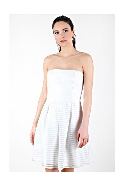 Spazio Kadın Beyaz Lilah Straplez Kısa Abiye 60096785