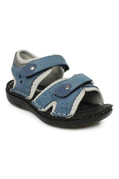 Toddler Çift Cırt Mavi Çocuk Sandalet 7029 P