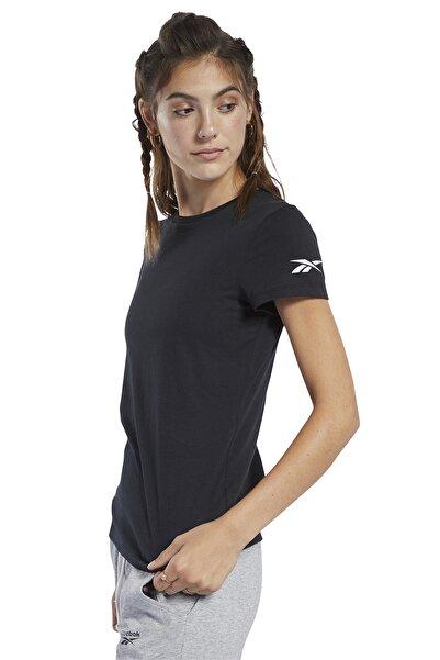 Reebok Logo Tee Kadın Siyah Koşu Tişörtü FQ6641