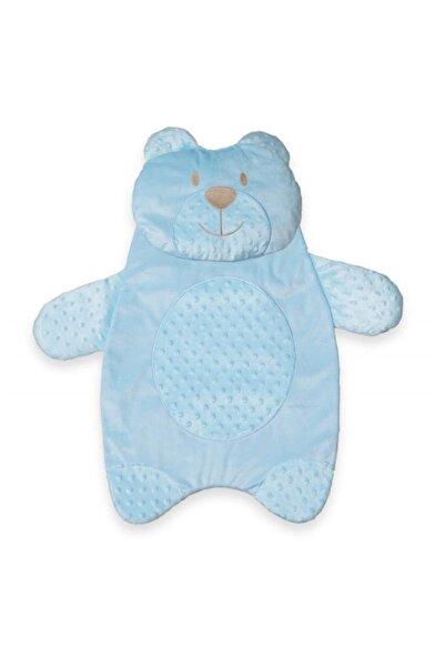 Bebessi Ayıcık Figürlü Alt Açma Minderi - Mavi