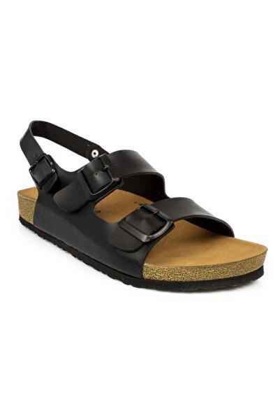 Twigy Pars Çift Bant Siyah Erkek Sandalet M0507 Tw