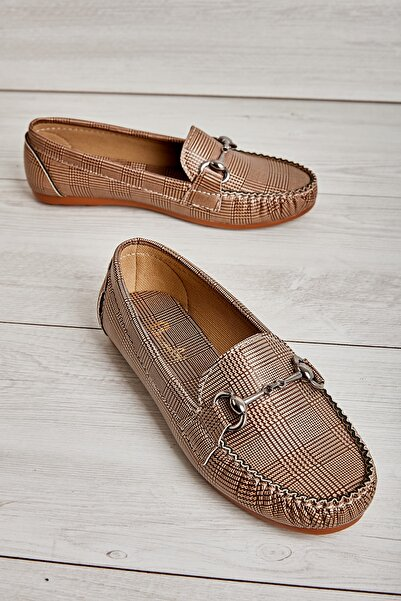 Bambi Altın Kadın Loafer Ayakkabı L05420222