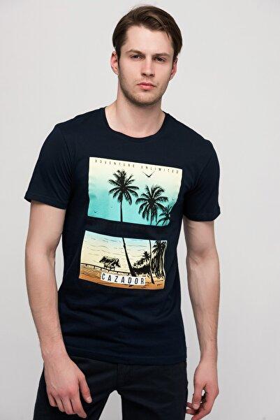 Cazador Erkek Lacivert T-Shirt - 4887