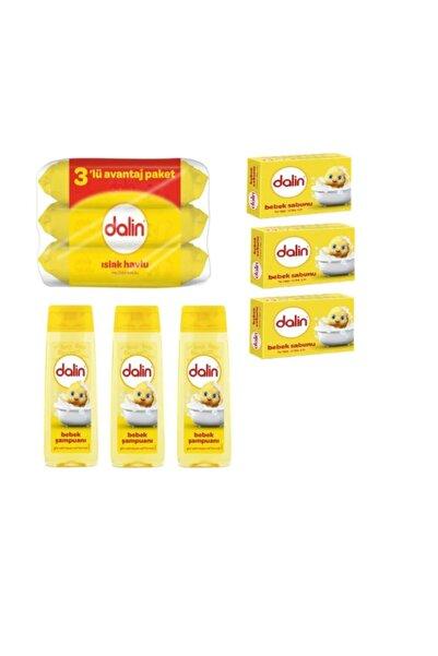Dalin 9 Parça Bebek Set, 3 Şampuan, 3 Sabun, 3 Islak Havlu Mendil