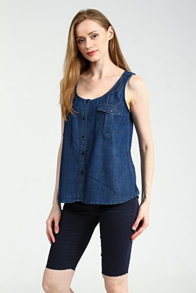 Collezione Kadın Koyu Mavi Gömlek Cowepe UCB010379A57