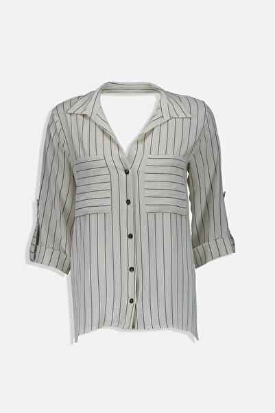 Collezione Kadın Ecru Regular Gömlek