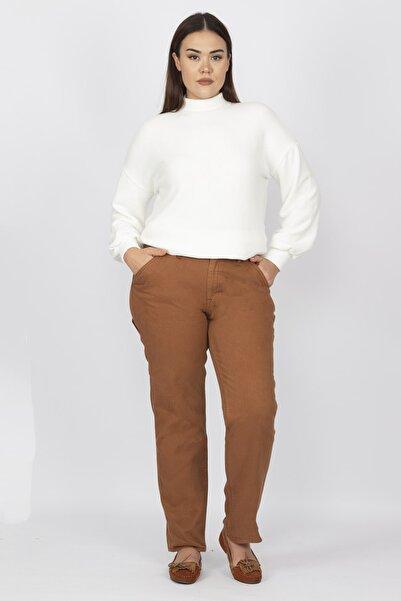 Şans Kadın Taba Gabardin Pantolon 65N15430