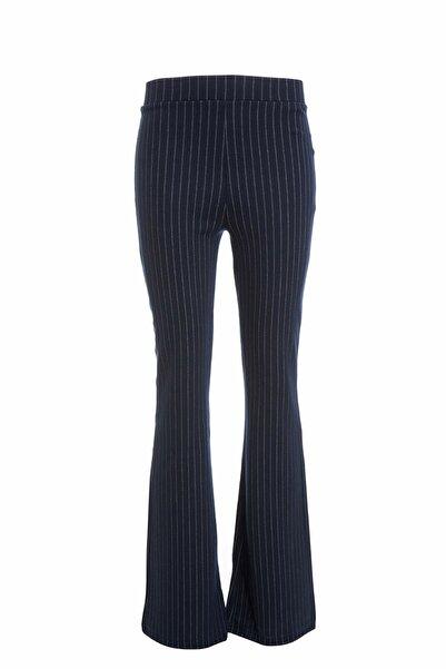 DeFacto Kadın Çivit Mavisi Flare Fit Dokuma Pantolon N7236AZ.20SM.IN75