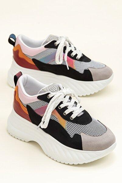 Elle Shoes DEVONA Siyah / Multı Kadın Sneaker