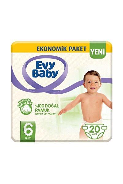 Evy Baby Bebek Bezi 6 Beden XL 20 Adet Yeni Paket