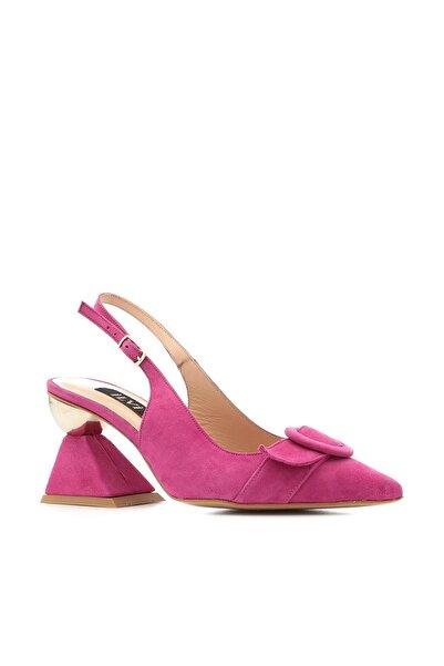 İLVİ Lola Kadın Sandalet Fuşya Süet Lola-4713.1188