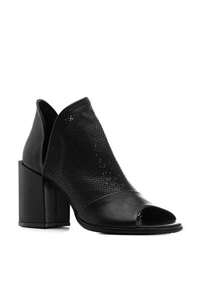 İLVİ Alli Kadın Sandalet Siyah Deri Alli-4031.1001