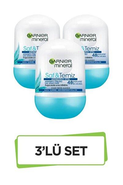Garnier Mineral Saf&Temiz Roll-On Deodorant 3'lü Set 36005420351493