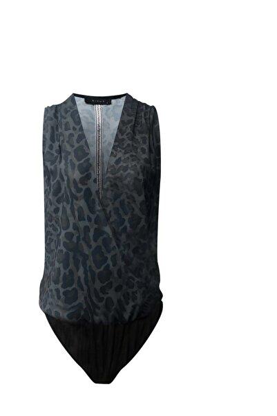 RİVUS Anvelop Kesim Alttan Çıtçıtlı Leopar Desenli Bluz Yeni Ürün 7525