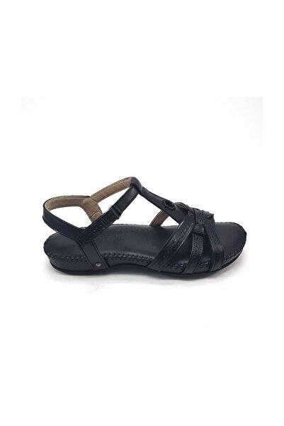 Forelli Anatomik Deri Siyah Düz Ayakkabı