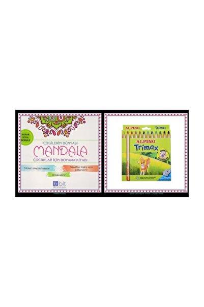 Bulut Yayınları Çocuklar Için Mandala Boyama Çizgilerin Gizemi Artı Alpino 12 Kuru Boya