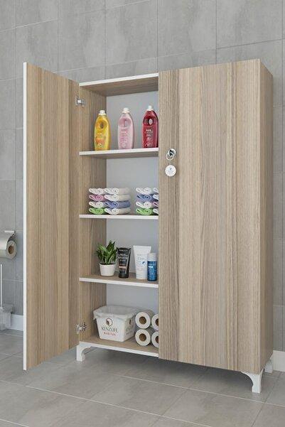 Kenzlife Mutfak Dolabı Çilem 148*090*032 Crd Kilitli Ayaklı Banyo Evrak Ofis Ayakkabılık Kiler