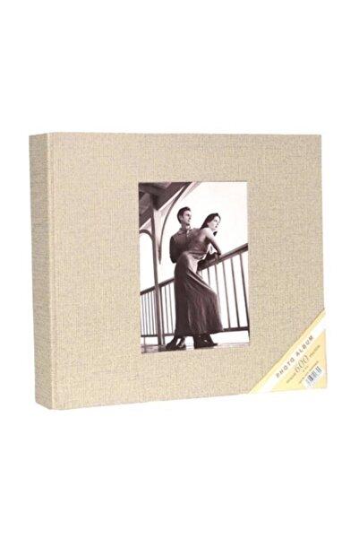 """Acr 10x15cm 600'lü Koton Desenli Fotoğraf Albümü """"koton Krem"""""""
